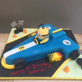 Minion Racing Car Cake